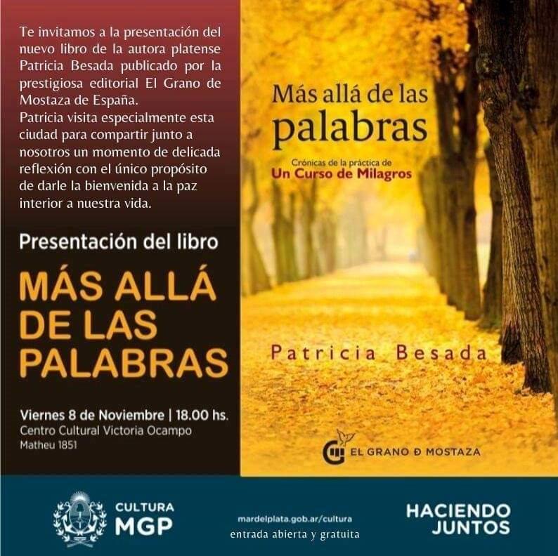 Patricia Besada presenta el libro Más allá de las palabras